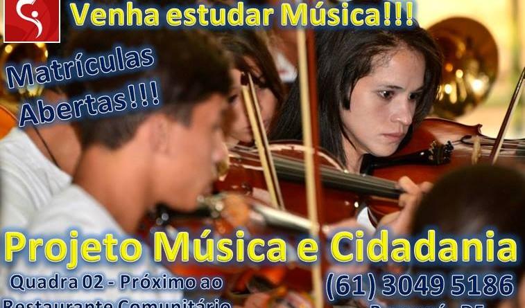 Matrículas abertas | Projeto Música e Cidadania